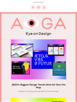 AIGA - The EoD Year in Review: 2020 design trends, our best stories of the year + our favorite stories we didn't write