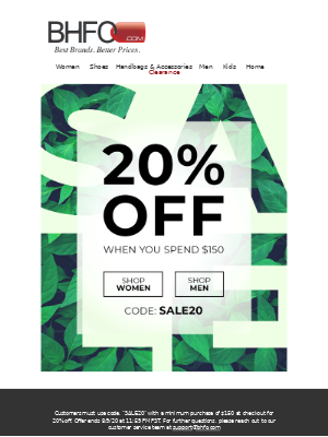 20% OFF everything😱