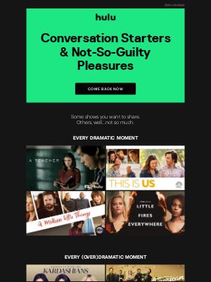 Hulu - The TV You Love is on Hulu