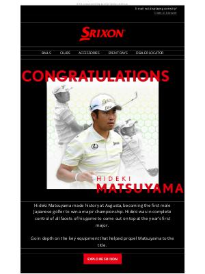 Srixon - A Major Moment For Matsuyama | Srixon