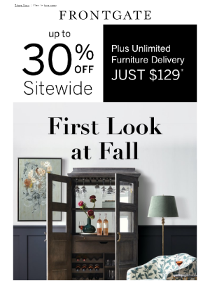 Frontgate - Up to 30% off sitewide + $129 unlimited furniture delivery.
