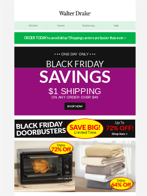 Walter Drake - Black Friday is Officially HERE