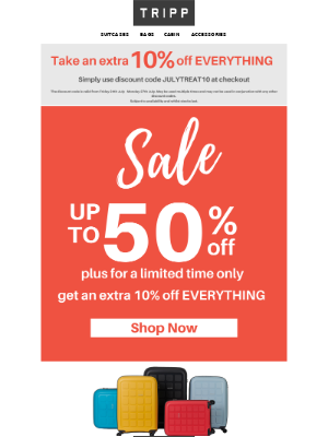 📣 Sale Continues – Plus an additional 10% off EVERYTHING