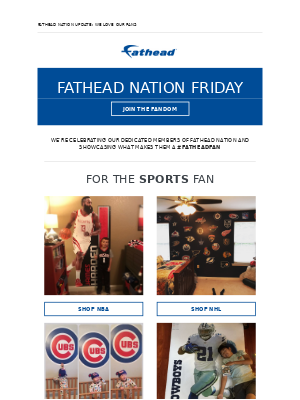 Get excited... It's Fathead Nation Friday.