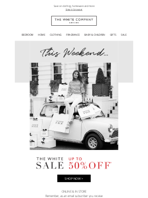 The White Company - Up to 50% off our Buyers' Sale edit