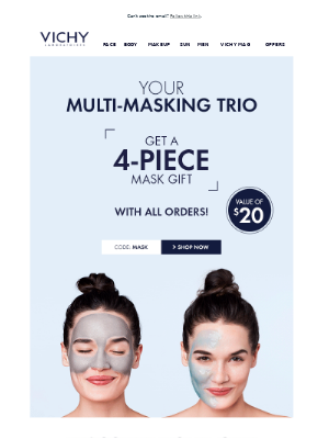 Free face mask alert! Rescue your complexion.