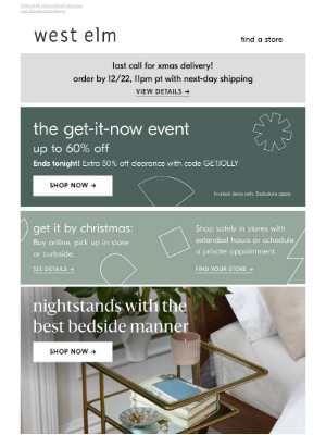West Elm - We're giving you UP TO 60% OFF (!!!)