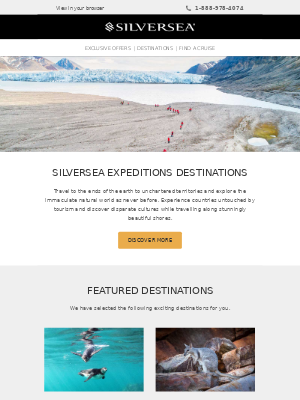 Silversea Cruises - Where do you want to travel next?