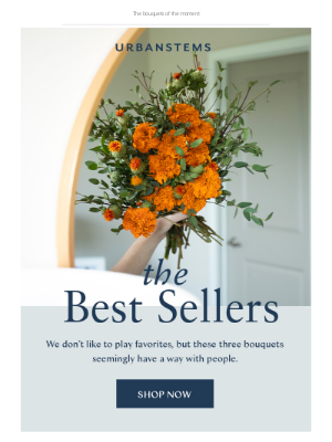 Our best-selling bouquets