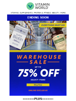 HURRY, Up to 75% OFF select wellness won't last!