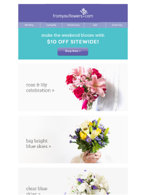From You Flowers - Flowers from under $30 - Brighten their day 💛