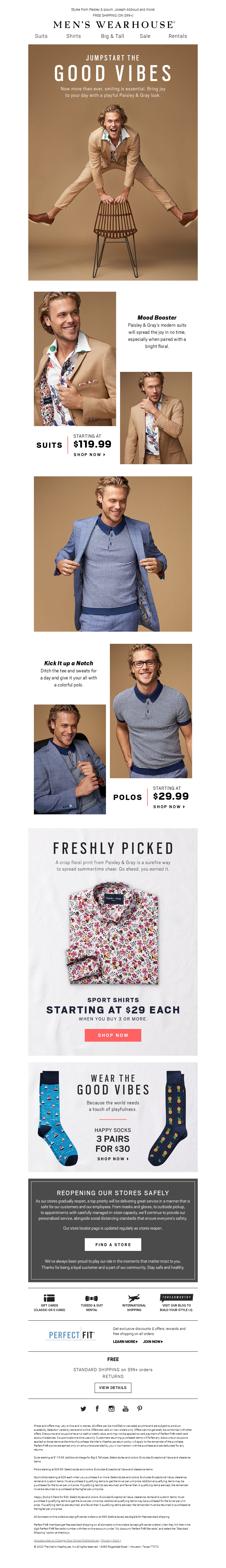 Men's Wearhouse - Brighten someone's day with a look that pops!