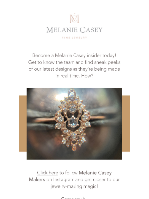 Melanie Casey - You can get exclusive behind the scenes content!