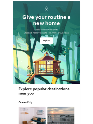 Airbnb - april, turn the everyday into a getaway