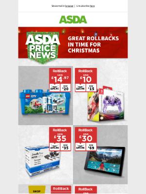 Asda UK - RollBacks have landed...
