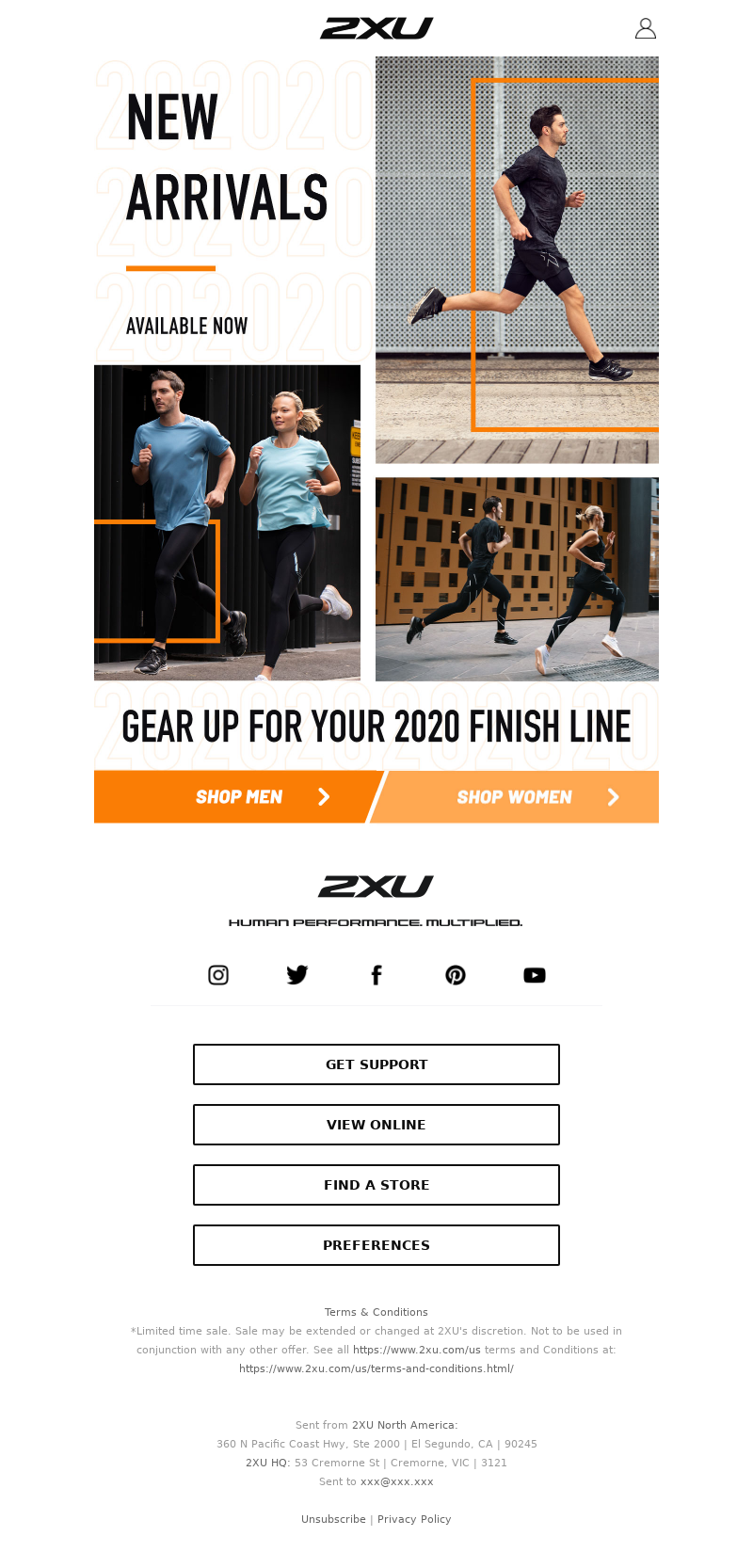 Email strategy from 2XU