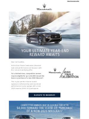 Maserati North America - Elevate your drive during the Gran Finale Celebration.