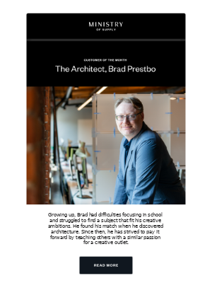 Customer of the Month: The Maker, Brad Prestbo