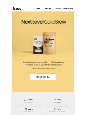 Trade Coffee - It's Official: Cold Brew Is Here