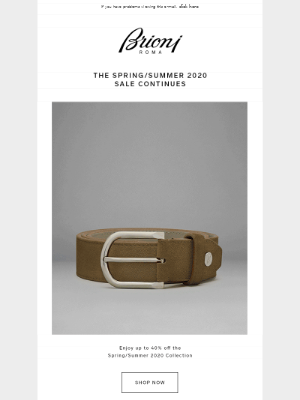 THE SPRING/SUMMER 2020 SALE CONTINUES