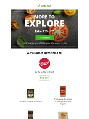 What's new at Murray's Cheese? Discover new items with $15 off your order.