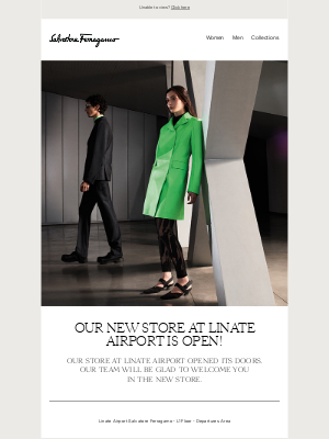 Salvatore Ferragamo USA - Our new store at Linate Airport is open!