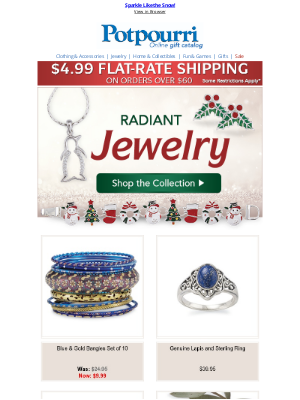 Potpourri Online Catalog - Jewelry Makes the Perfect Christmas Gift 🎁 Shop Now!