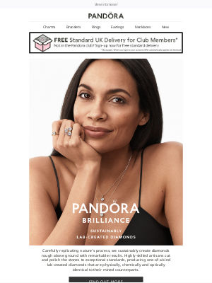 Pandora Jewelry (UK) - New: sustainably lab-created diamonds