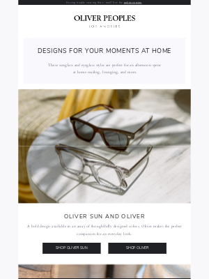 Oliver Peoples - For your moments at home