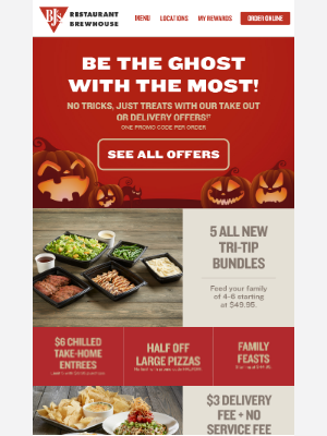 BJs Restaurants - 👻 SpOoOoOky Good Deals! 🎃