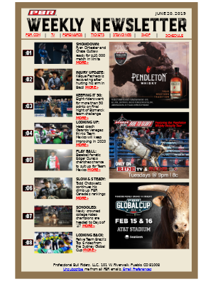 Ready for Last Cowboy Standing? $40,000 Showdown in Vinita Will Whet Your Appetite - Weekly PBR Newsletter