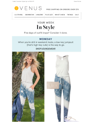 VENUS Fashion - Your Official Monday - Friday Outfit Guide