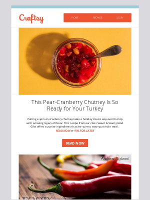 Bluprint - The Perfect Pairing for Turkey: Pear Cranberry Chutney