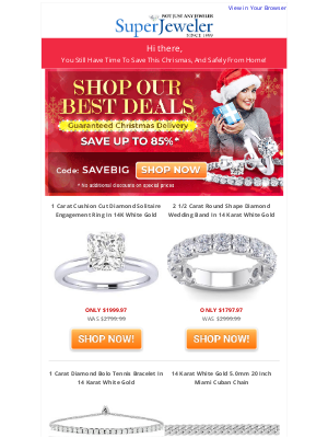 SuperJeweler - Big Savings Ending Soon. Guaranteed For Christmas