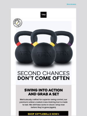 TRX Training - Don't Miss Your Chance—Kettlebells are Back!