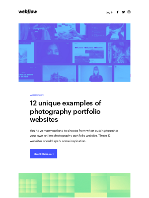 Unique examples of photography portfolio websites ✨