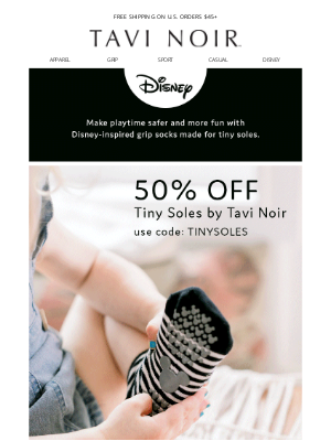 LIMITED TIME: 50% off Tiny Soles Disney-inspired grip socks