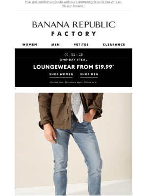 Banana Republic Factory - Today Only: Loungewear from $19.99