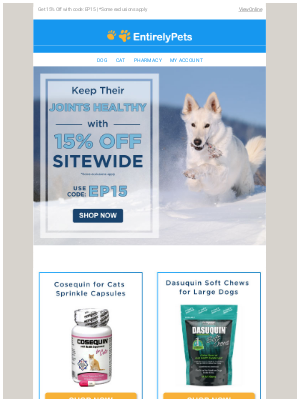 EntirelyPets - 💪🐾 Stay active with these Joint Care Essentials!