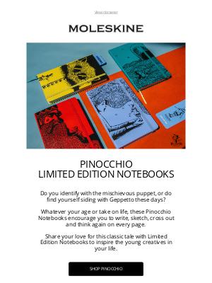 moleskine - Pinocchio Limited Edition