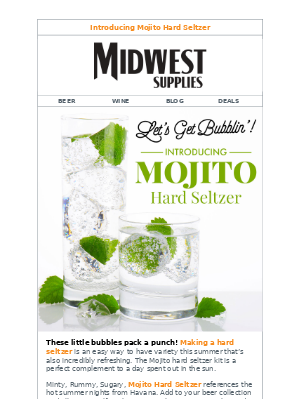 The Mojito Hard Seltzer Is Here! 🍃 🍹