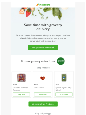Get groceries delivered from Sprouts Farmers Market! 🥕