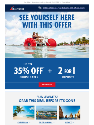 Carnival Cruise Line - 😃 This Early Bird Deal Cannot Be Ignored!