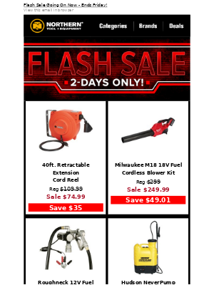 2-Day Flash Sale Is On!
