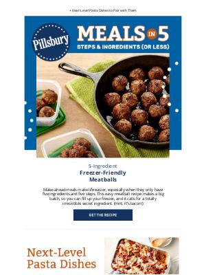 Pillsbury - 5-Ingredient Freezer-Friendly Meatballs