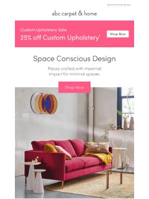 ABC Carpet & Home - grand design for small space living