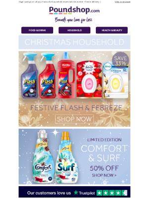 Poundshop - Flash, Febreze & Comfort festive fragrances in stock 🎄
