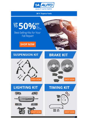 Moosejaw - 2011ToyotaYaris | Up to 50% off Our Best-Selling Kits for Your Fall Repair