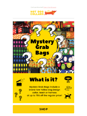 Hot Dog Collars - 20% off all Personalized Products & 75% off Mystery Bags