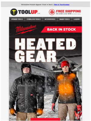 Toolup - Milwaukee Heated Apparel - Back In Stock